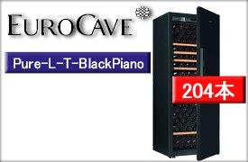 ユーロカーヴPUREシリーズ Pure-L-T BlackPiano(標準扉・1温度帯・附属棚6枚・204本収納)