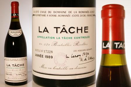 DRC ラ・ターシュ 1989 限定1本 180,000円(189,000円税込)