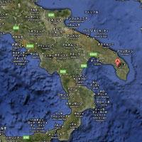イタリア半島のちょうどかかとのあたり