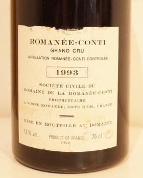 ロマネコンティ1993バックラベル