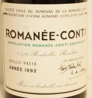 ロマネコンティ1992エチケット