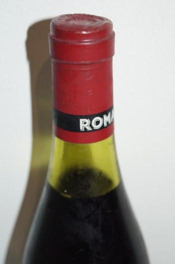 ロマネコンティコルク、液面とキャップシールの状態