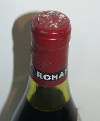 ロマネコンティ1985キャップシール・コルクの状態