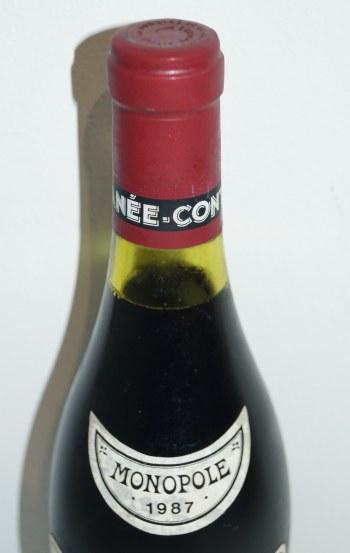 ロマネコンティ1986の液面