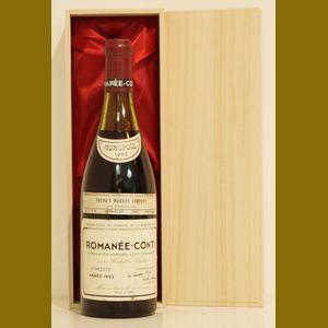 1982 Domaine de la Romanee-ContiDRC Romanee-Conti