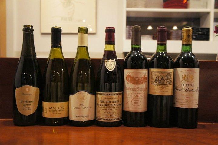 ヴィンテージワインを楽しむ会で出されたワイン達